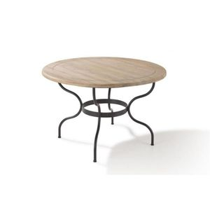Table manger ronde achat vente table manger ronde for Table fer forge ronde