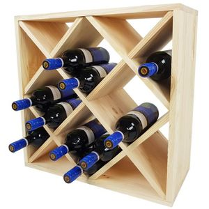 MEUBLE RANGE BOUTEILLE Étagère à bouteilles de vin BACCHUS en forme de lo