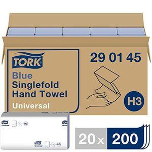 200 feuilles Serviettes en Papier Tork Bleu Pli/ées 115 x 225 mm 230 x 225 mm