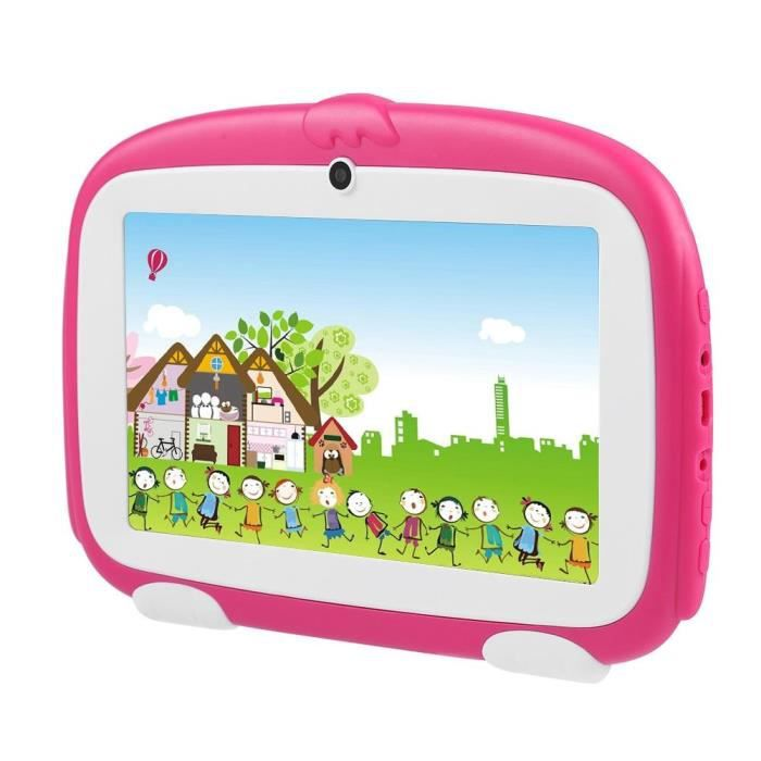 ARAMOX Tablette PC pour enfants 7IN Mini Lovely Tablet PC Dual Camera WiFi Learning Tablet 1G + 8GB Enfants Early Education Rose UK
