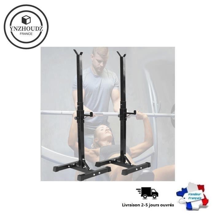 Noir !!! Barbell squat rack-hauteur réglable 105-160cm: FITNESS multifonction (type divisé), Support de squat haltère - YNZHOUDZ