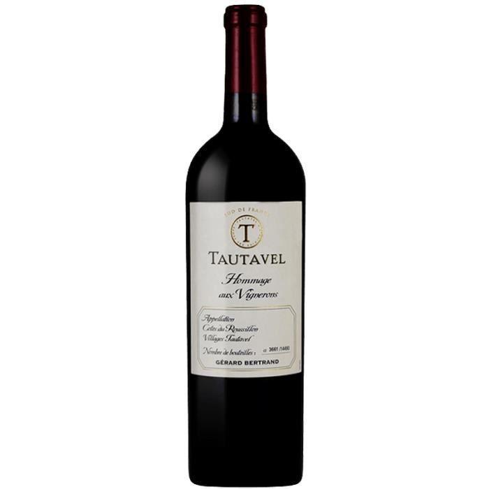Gérard Bertrand - Côtes du Roussillon - Tautavel - Hommage aux vignerons - Rouge 2016 - 75 cl
