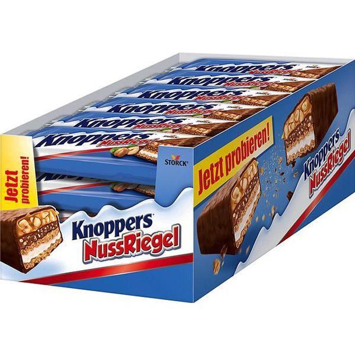 Knoppers Barre de noix 40g (Pack de 24)