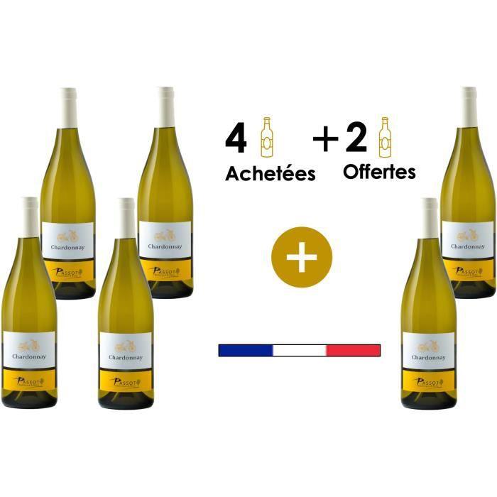 Maison Passot Rémy & fils Chardonnay X6 2019 IGP Pays d'Oc vin Blanc Languedoc et Roussillon