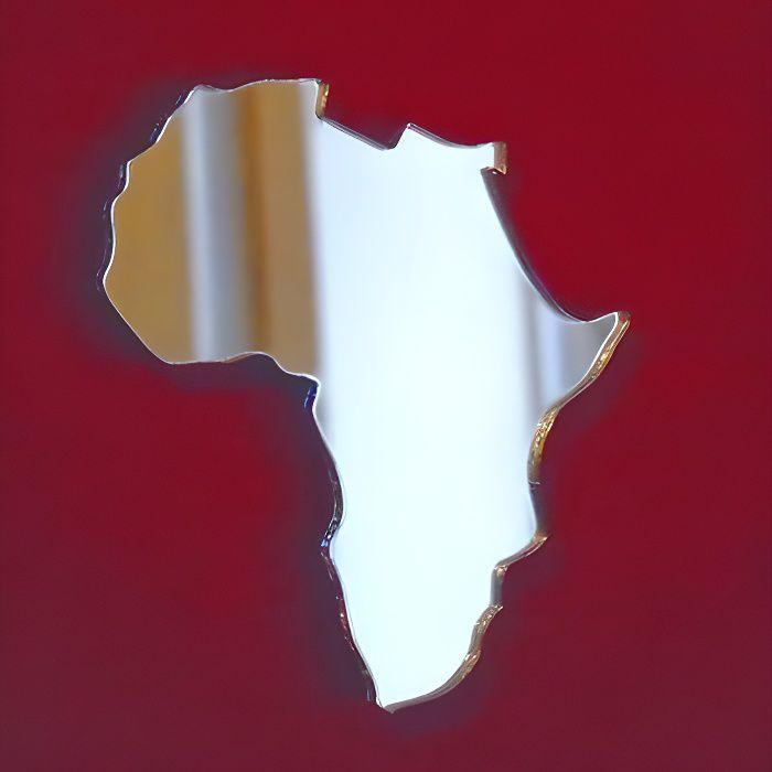 Carte de l'Afrique - 45 cm x 41 cm