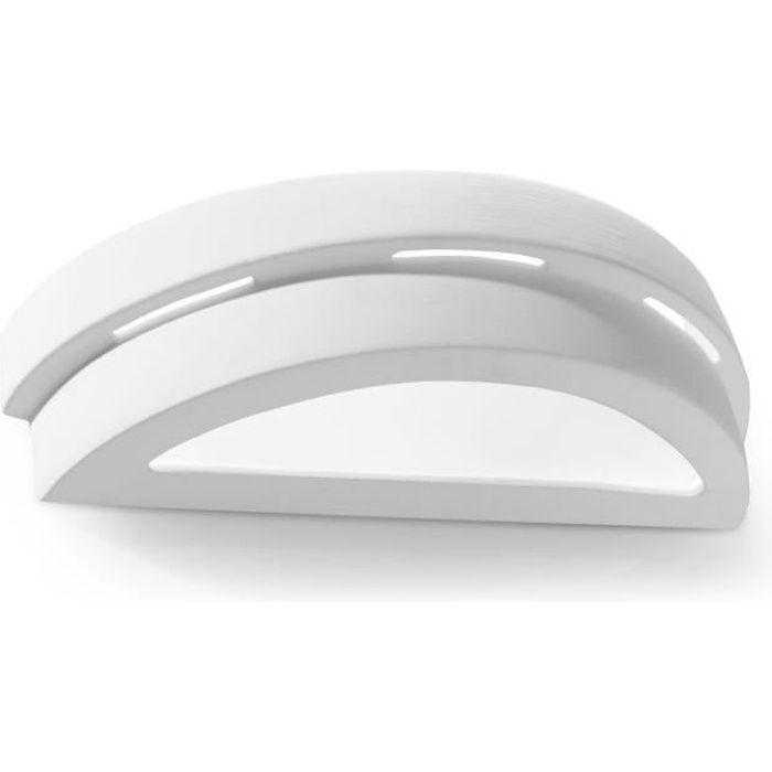 Applique Murale Céramique HELIOS E27 Lampe Murale Moderne BOHO Design Couloir - Blanc