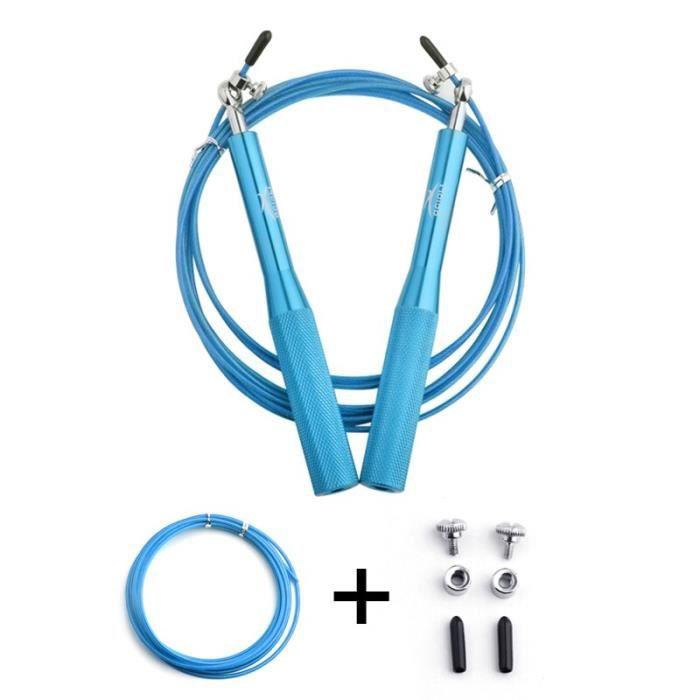 Accessoires Fitness - Musculation,Crossfit corde à sauter professionnelle pour corde à sauter MMA vitesse de roulement - Type Bleu