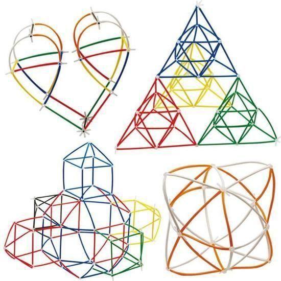 Les garçons en plastique les filles 4D de construction de paille bloque les jouets communs de développement drôle DYY70617865