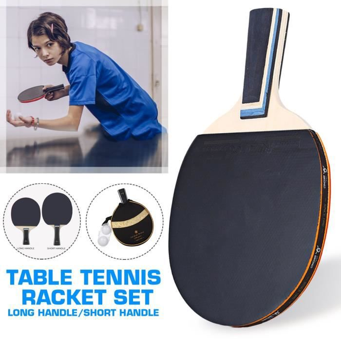 AVANC Raquette Tennis de Table poignée longue + Sac Boîte