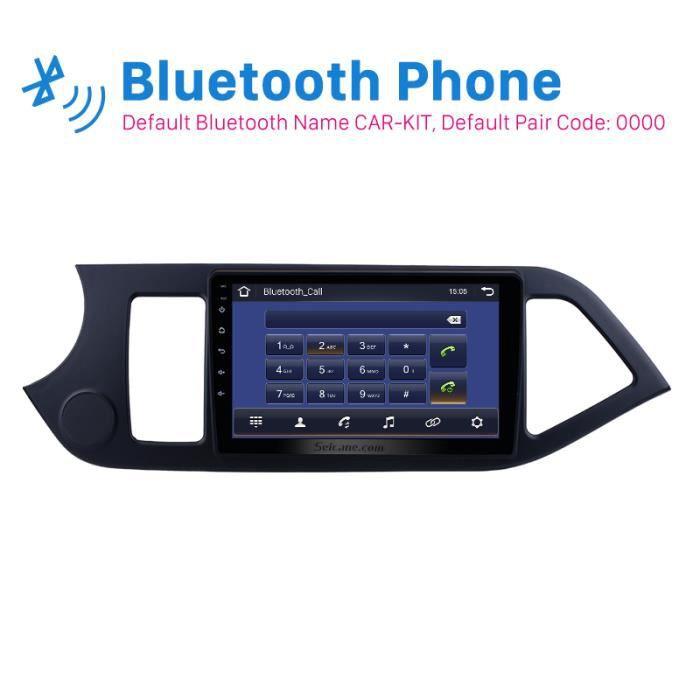 Autoradio 2Din Android 9.0 9 -pour KIA PICANTO matin 2011 2012 2013 2014 unité de tête de Navigation GPS AUX Wifi 4 cœurs 1080 P C