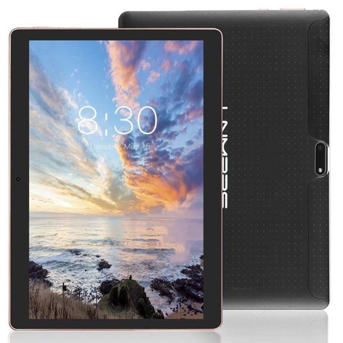 """Lnmbbs 3G Tablette Tactile 10.1"""" 3G Wifi, Android 7.0, 32Go, 2Go de Ram, Quad Core, Dual Sim (Noir)"""