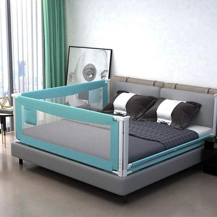 Barrière de lit, garde-corps de lit extra long, 59-71 - 79in, barrière pour lit anti-chute pour bébé, barrière pour lit queen e A223