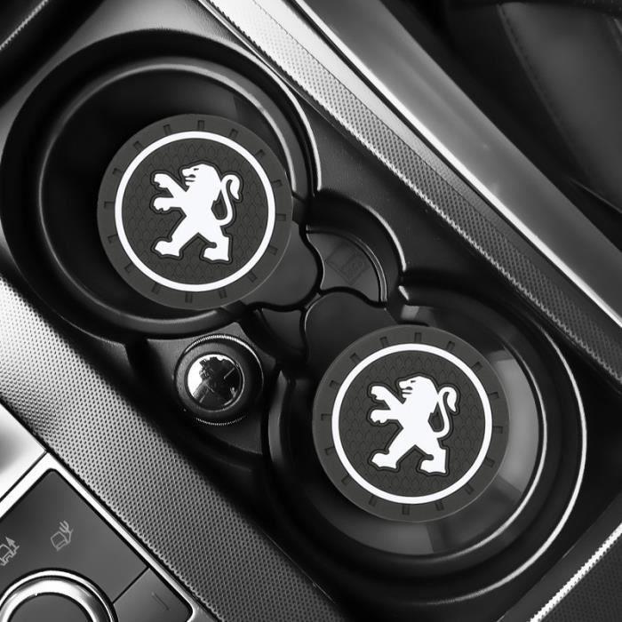 Housse De Siège,2 pièces voiture Auto eau tasse fente tapis antidérapant pour Peugeot 206 207 307 3008 2008 308 408 508 301 - Type#A