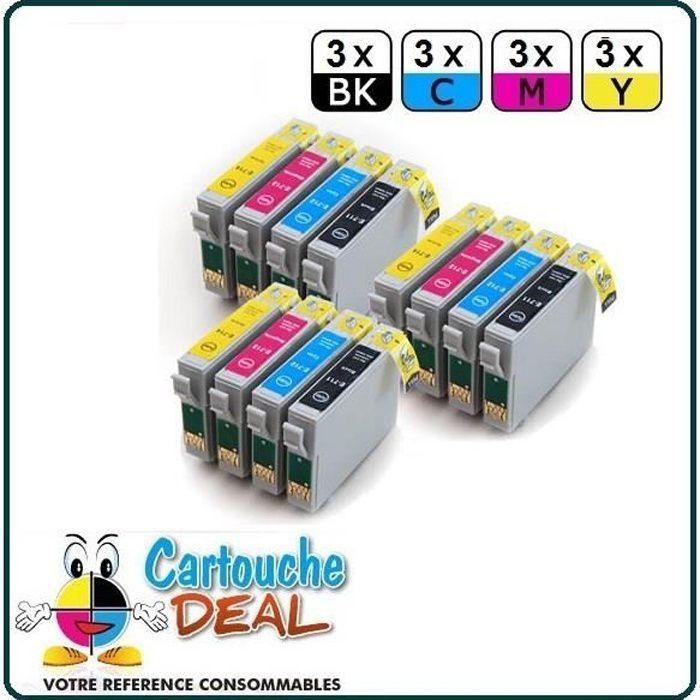 Lot de 12 Cartouches générique compatible Epson T0715