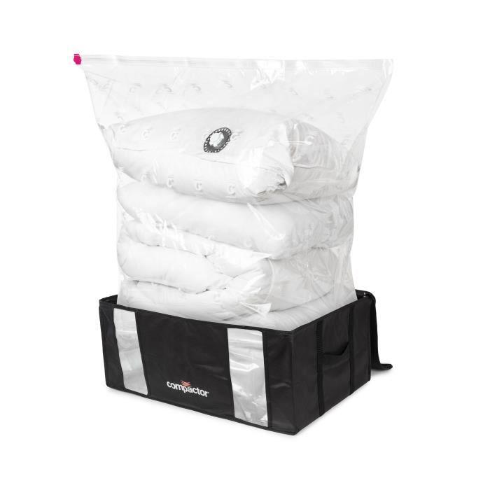 COMPACTOR Housse de rangement sous vide Black Edition - Nylon + polyéthylène + polypropylène - Taille XXL 210 litres