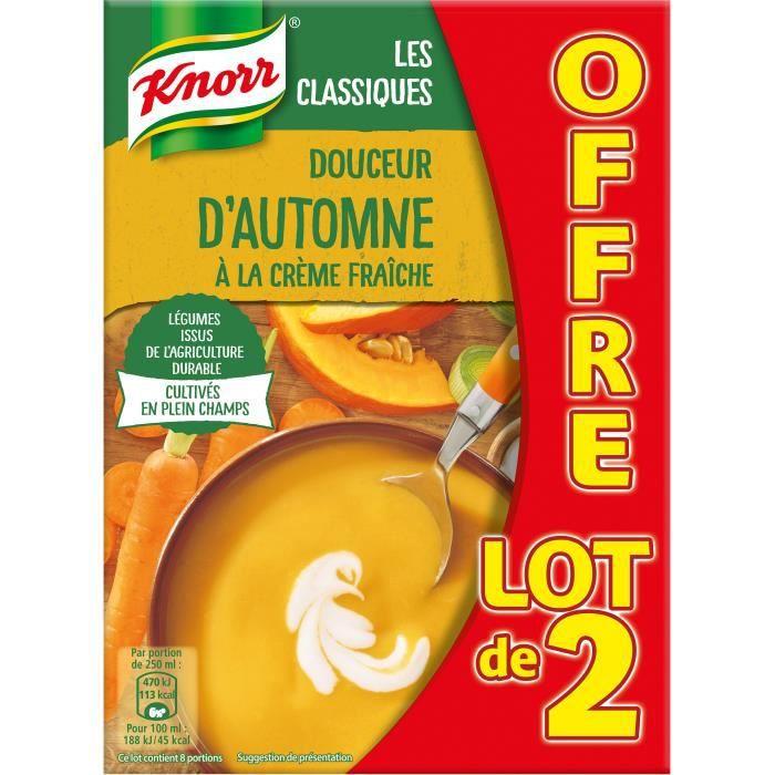 Knorr Soupe Douceur d'Automne à la Crème Fraîche 1 L - Lot de 4