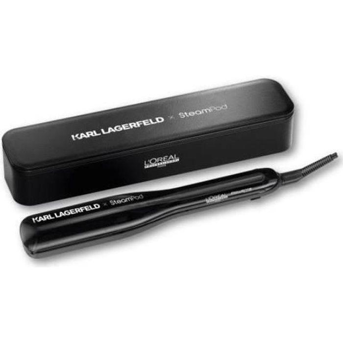 Steampod 3.0 - Edition Limitée Karl Lagerfeld - Lisseur Vapeur Professionnel 2-en-1 + Trousse Simili-cuir Noire Karl Lagerfeld