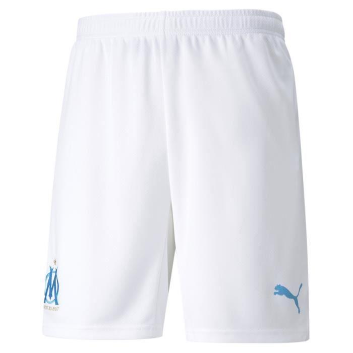 Short Puma Om Domicile 2021-22 blanc homme