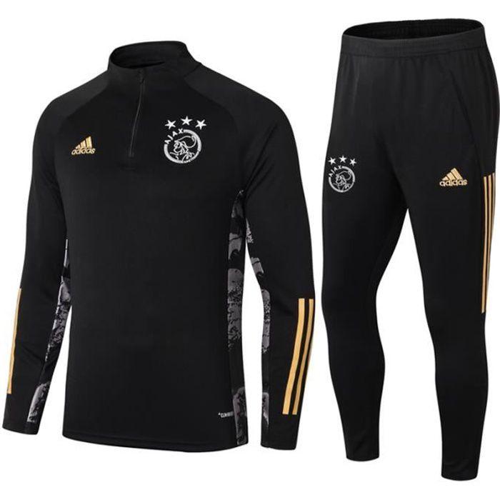 Survêtements AFC AJAX 2021 Adidas Maillot Homme Enfants Maillot de Football Nouveau - Noir