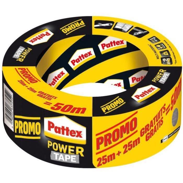 Pattex Power tape gris 25m+25m gratuit
