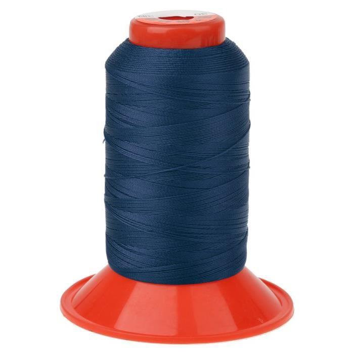 Longueur de 500 Mètres Couture de Fil En Nylon Solide pour Sac à Dos Tente - Bleu foncé