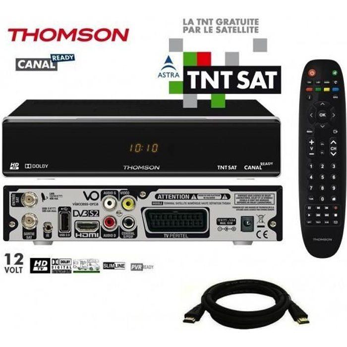 Pack Récepteur THOMSON THS804 HD + Carte TNTSAT + Câble HDMi 2M