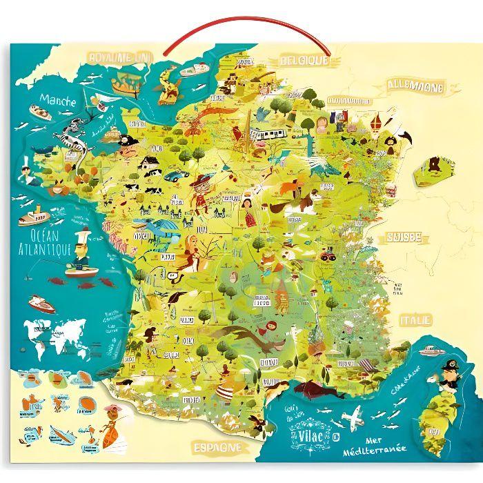 VILAC Carte des merveilles de France magnétique