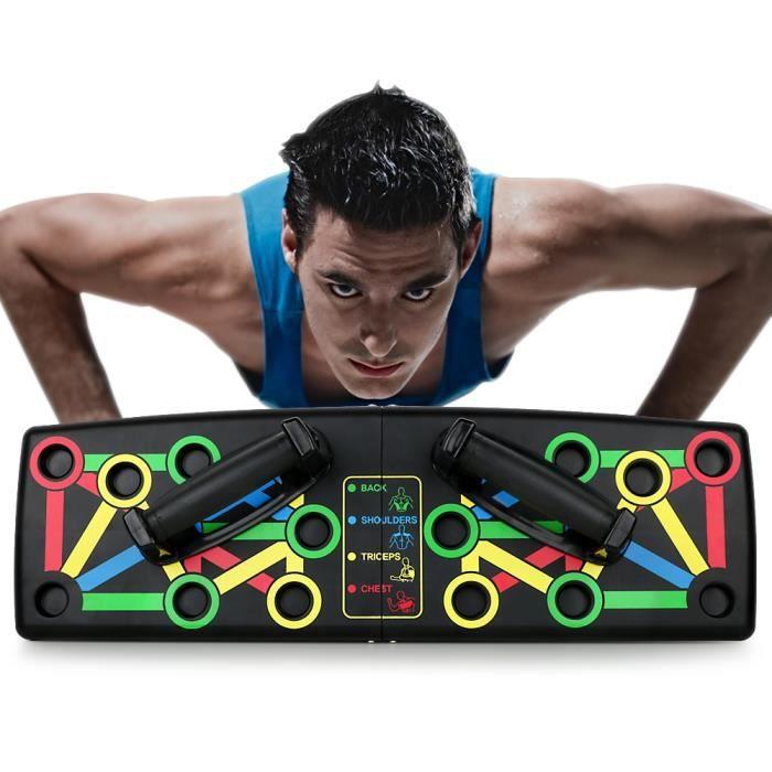 14 en 1 Push Up Board Amovible Portable Fitness Entraînement de Force Outil auxiliaire
