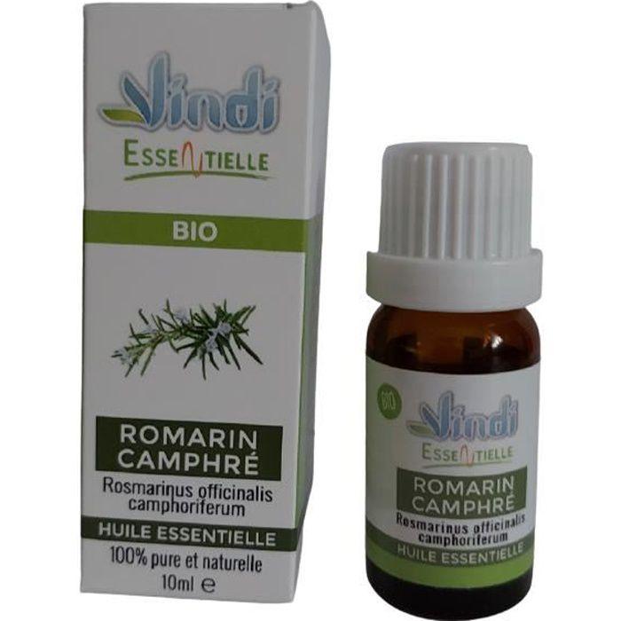 Vindi essentielle - huile essentielle de Romarin Camphré - Rosmarinus officinalis camphoriferum BIO