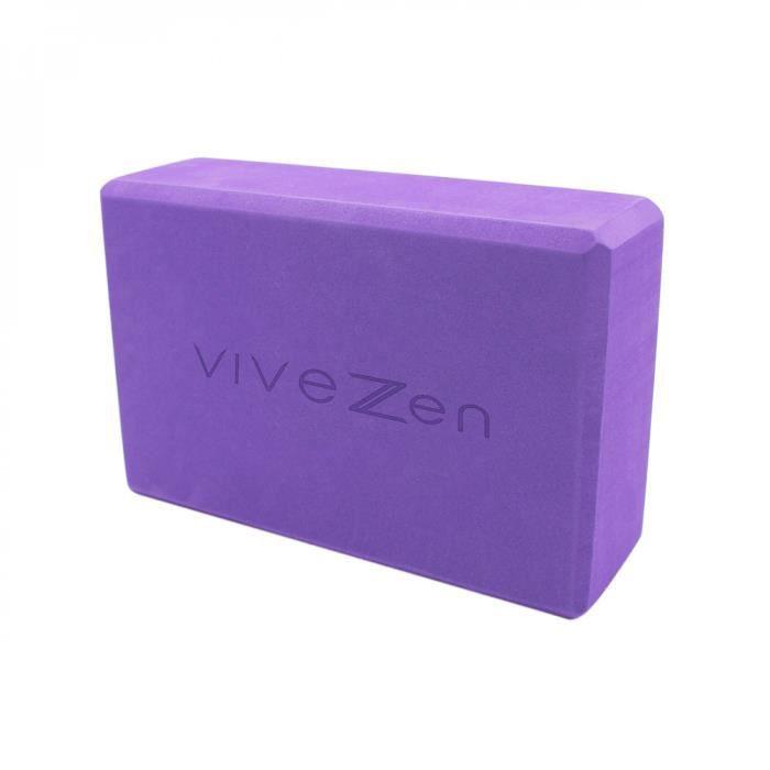 Brique, bloc de yoga 23 x 15 x 7,5 cm - EVA - Violet