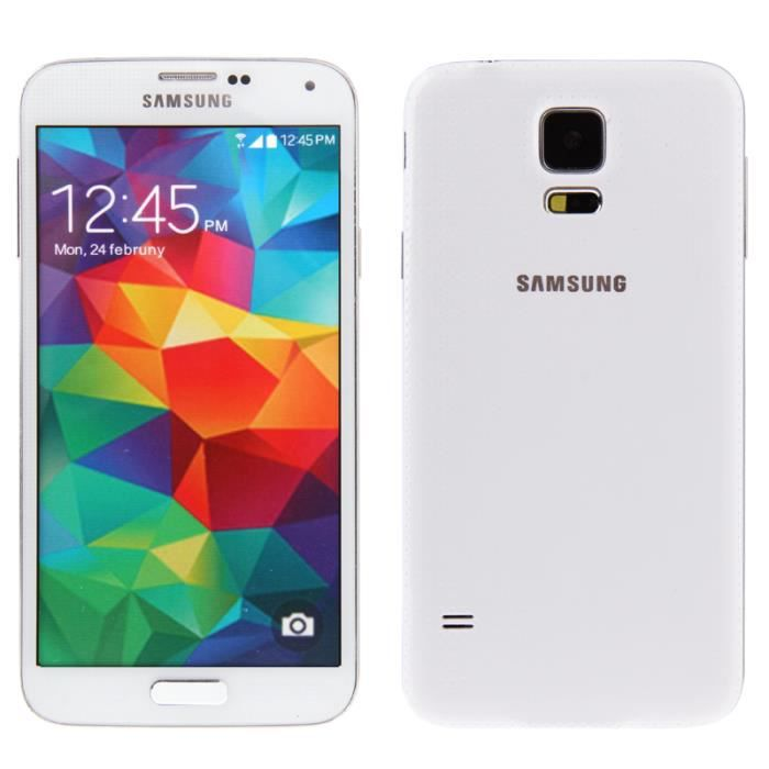 t l phone factice samsung galaxy s5 blanc achat vente. Black Bedroom Furniture Sets. Home Design Ideas