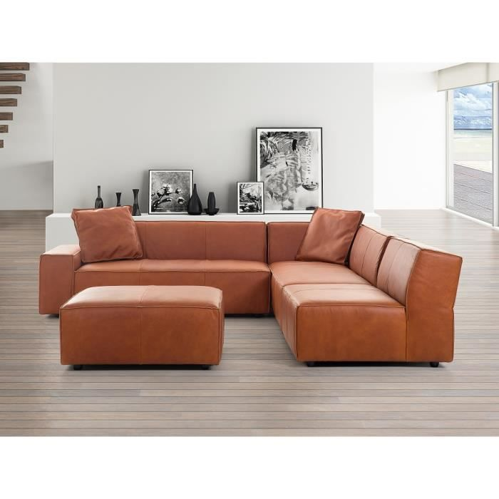 canap d 39 angle canap en cuir vintage cognac sofa adam g achat vente canap sofa. Black Bedroom Furniture Sets. Home Design Ideas