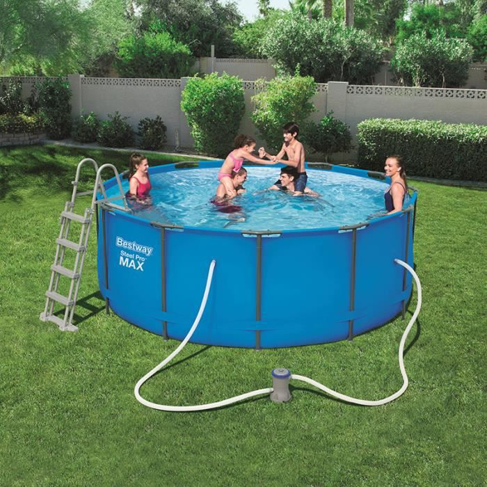 Bestway piscine tubulaire ronde achat vente for Piscine tubulaire 1 22