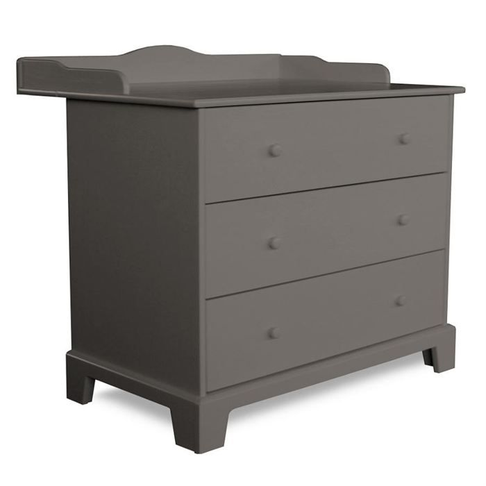 commode langer 3 tiroirs country warm grey achat vente table langer 5420007117252. Black Bedroom Furniture Sets. Home Design Ideas