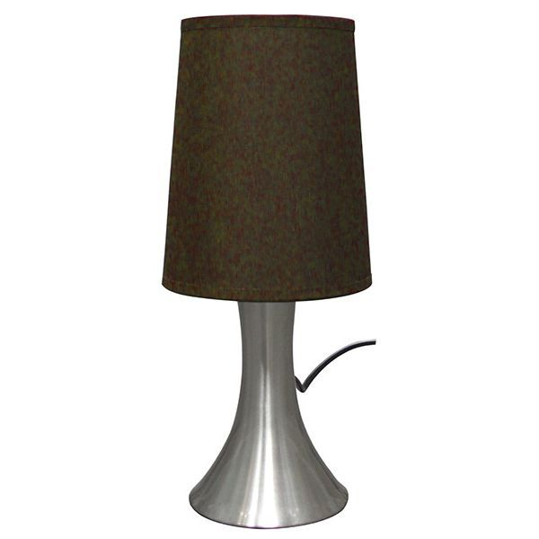 Lampe de chevet sensitive touch abat jour marron achat - Abat jour lampe de chevet ...