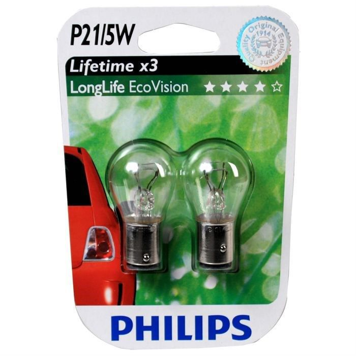 ampoules philips p21 5w longlife ecovision achat vente ampoule tableau bord ampoules philips. Black Bedroom Furniture Sets. Home Design Ideas