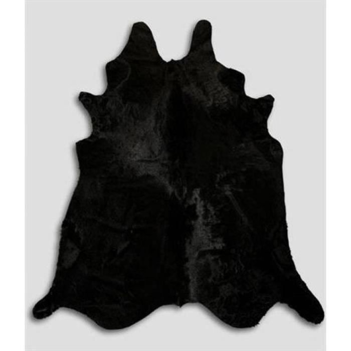 tapis en peau de vache noir achat vente tapis soldes cdiscount. Black Bedroom Furniture Sets. Home Design Ideas