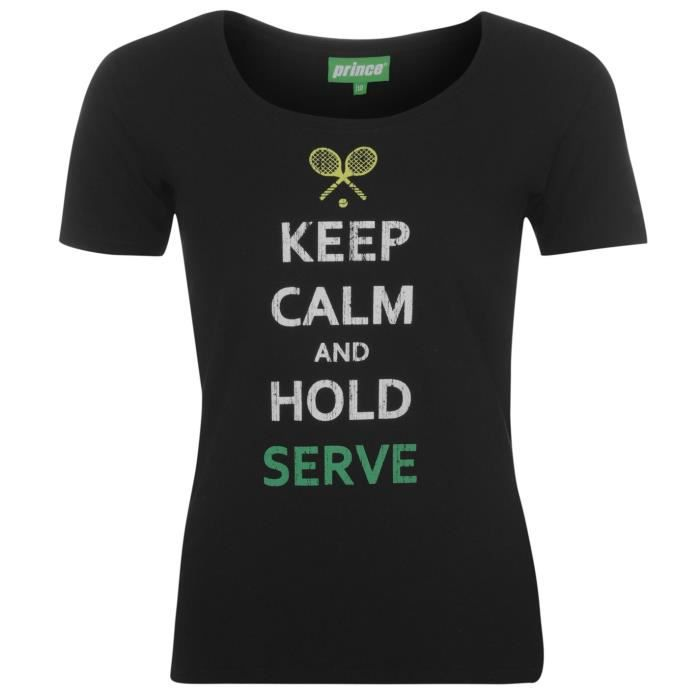 T-SHIRT Prince Keep Calm T-Shirt D'Entrainement Femme Femm