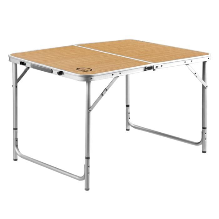o 39 camp table valise aluminium 6 personnes prix pas cher cdiscount. Black Bedroom Furniture Sets. Home Design Ideas