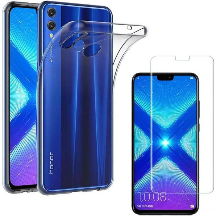Bleu Violet Oihxse Cristal Coque Compatible pour Huawei Honor 8X//V10 Lite Case D/égrad/é Transparente Coussin d/'Air Silicone Souple Protection Housse Ultra Mince Antichoc Protection Etui Bumper Cover