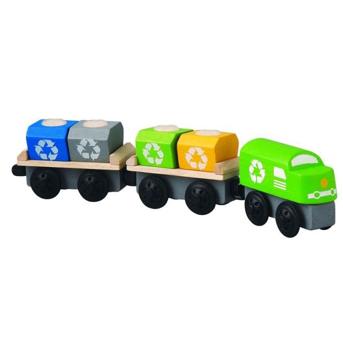 plantoys jouets en bois train de recyclage achat vente voiture camion cdiscount. Black Bedroom Furniture Sets. Home Design Ideas
