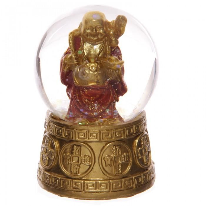 boule neige avec figurine bouddha porte bonheur achat vente statue statuette cdiscount. Black Bedroom Furniture Sets. Home Design Ideas