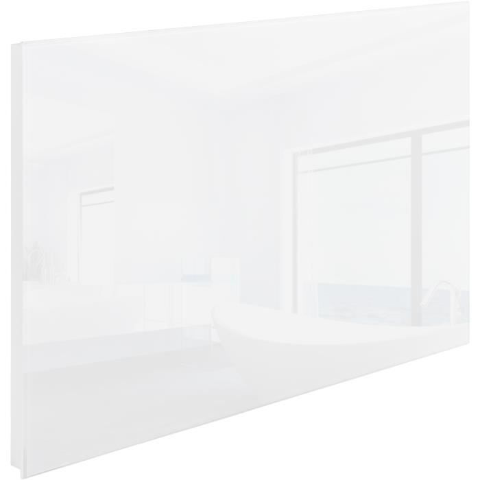 chauffage lectrique mural rayonnant infrarouge en verre 920 mm x 620 mm 700w tectake blanc. Black Bedroom Furniture Sets. Home Design Ideas