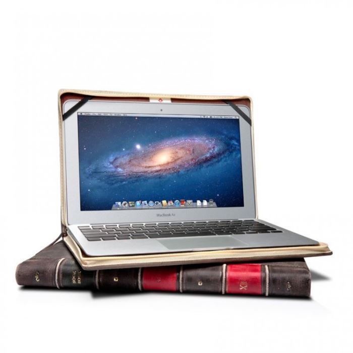 Housse cuir vieilli apple macbook air 13 book achat for Housse macbook air 13