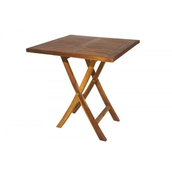 Table Pliante En Teck 70x70 Cm Carr Achat Vente Table De Jardin Table Pliante En Teck 70x70