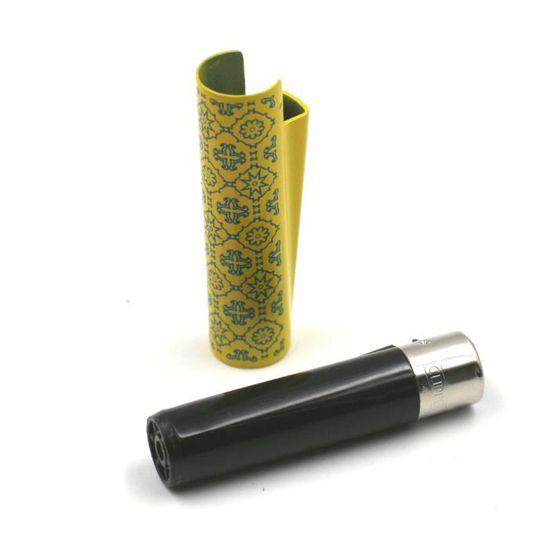 Mini Clipper non imprimé de couleur noir avec étui métal motif vintage Rose
