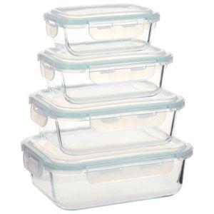 BOITES DE CONSERVATION ETO Lot de 4 Boîtes Alimentaires Boîte à Déjeuner