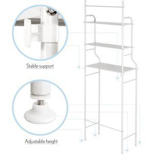 ARMOIRE DE TOILETTE 165*55*26cm - Meuble WC metal - Colonne de toilett
