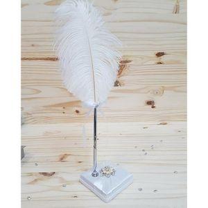 socle pour stylo en satin Pixnor Set livre dor mariage perles et strass