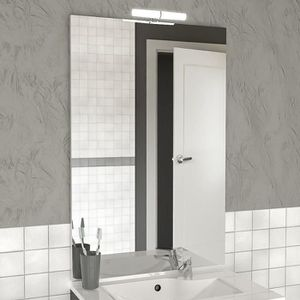 MIROIR SALLE DE BAIN Miroir avec applique MIRCOLINE - 90 cm + applique